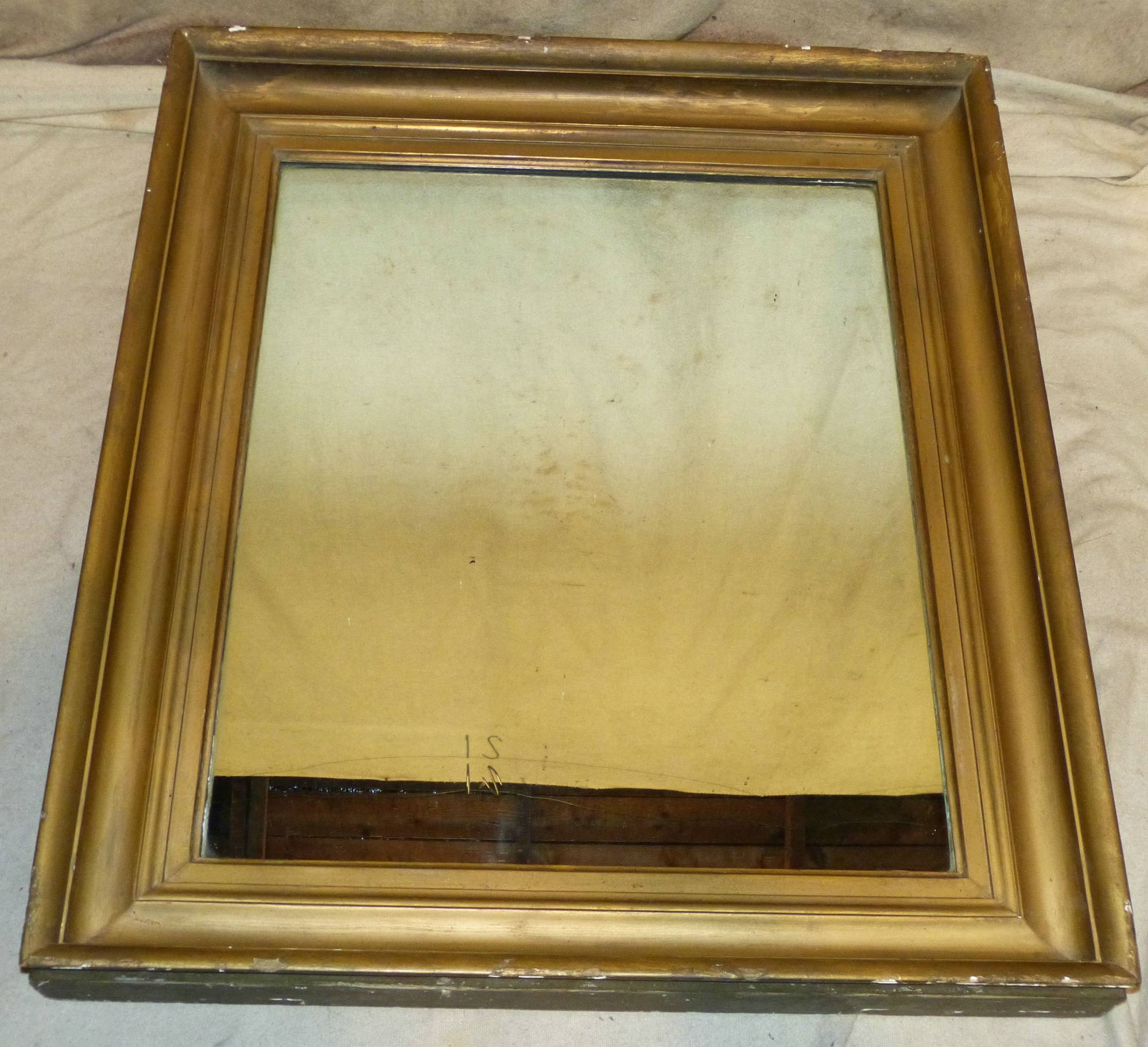 A gilt hanging large wall mirror from p f windibank for Hanging a large mirror