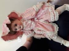Antique Porcelain Headed Doll with jointed body
