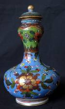 18th Century Chinese Clobbered Porcelain Vase & Cover