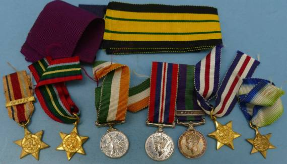 An Assortment of Miniature Medals from P F  Windibank